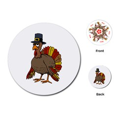 Thanksgiving Turkey  Playing Cards (round)  by Valentinaart