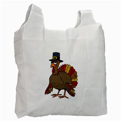 Thanksgiving Turkey  Recycle Bag (two Side)  by Valentinaart