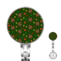 Thanksgiving Turkey  Stainless Steel Nurses Watch by Valentinaart