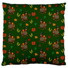 Thanksgiving Turkey  Standard Flano Cushion Case (two Sides) by Valentinaart
