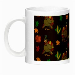 Thanksgiving Turkey  Night Luminous Mugs by Valentinaart