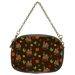 Thanksgiving Turkey  Chain Purses (two Sides)  by Valentinaart