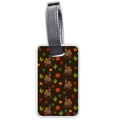 Thanksgiving Turkey  Luggage Tags (two Sides) by Valentinaart