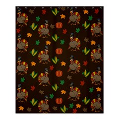 Thanksgiving Turkey  Shower Curtain 60  X 72  (medium)  by Valentinaart