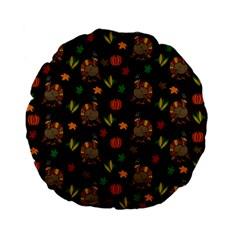 Thanksgiving Turkey  Standard 15  Premium Flano Round Cushions by Valentinaart