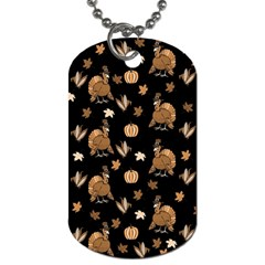 Thanksgiving Turkey  Dog Tag (two Sides) by Valentinaart
