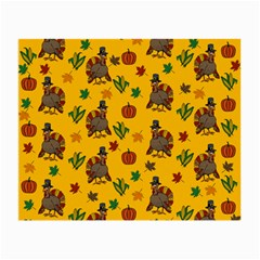 Thanksgiving Turkey  Small Glasses Cloth by Valentinaart