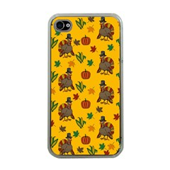 Thanksgiving Turkey  Apple Iphone 4 Case (clear) by Valentinaart