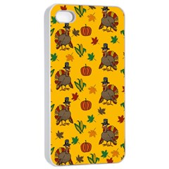 Thanksgiving Turkey  Apple Iphone 4/4s Seamless Case (white) by Valentinaart