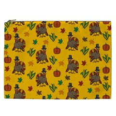 Thanksgiving Turkey  Cosmetic Bag (xxl)  by Valentinaart