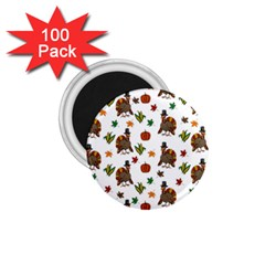 Thanksgiving Turkey  1 75  Magnets (100 Pack)  by Valentinaart