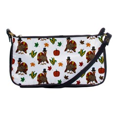 Thanksgiving Turkey  Shoulder Clutch Bags by Valentinaart