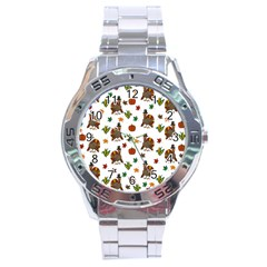 Thanksgiving Turkey  Stainless Steel Analogue Watch by Valentinaart