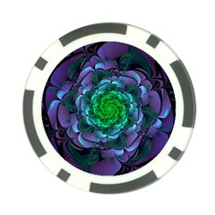 Beautiful Purple & Green Aeonium Arboreum Zwartkop Poker Chip Card Guard by jayaprime