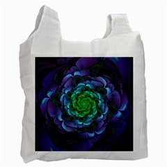 Beautiful Purple & Green Aeonium Arboreum Zwartkop Recycle Bag (two Side)  by jayaprime