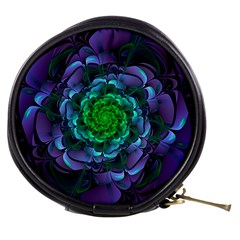 Beautiful Purple & Green Aeonium Arboreum Zwartkop Mini Makeup Bags by jayaprime
