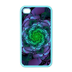 Beautiful Purple & Green Aeonium Arboreum Zwartkop Apple Iphone 4 Case (color) by beautifulfractals