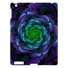 Beautiful Purple & Green Aeonium Arboreum Zwartkop Apple Ipad 3/4 Hardshell Case by beautifulfractals