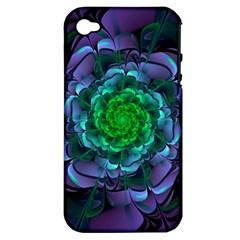 Beautiful Purple & Green Aeonium Arboreum Zwartkop Apple Iphone 4/4s Hardshell Case (pc+silicone) by jayaprime