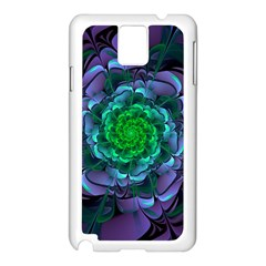 Beautiful Purple & Green Aeonium Arboreum Zwartkop Samsung Galaxy Note 3 N9005 Case (white) by jayaprime