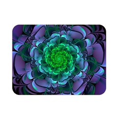 Beautiful Purple & Green Aeonium Arboreum Zwartkop Double Sided Flano Blanket (mini)  by beautifulfractals