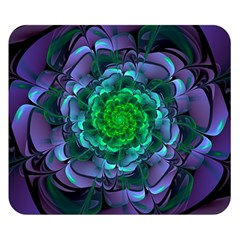 Beautiful Purple & Green Aeonium Arboreum Zwartkop Double Sided Flano Blanket (small)  by beautifulfractals