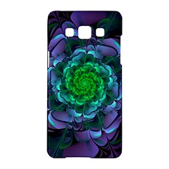 Beautiful Purple & Green Aeonium Arboreum Zwartkop Samsung Galaxy A5 Hardshell Case  by beautifulfractals
