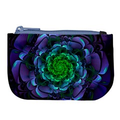 Beautiful Purple & Green Aeonium Arboreum Zwartkop Large Coin Purse by jayaprime