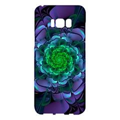 Beautiful Purple & Green Aeonium Arboreum Zwartkop Samsung Galaxy S8 Plus Hardshell Case  by jayaprime