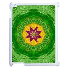 Feathers In The Sunshine Mandala Apple Ipad 2 Case (white) by pepitasart