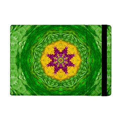 Feathers In The Sunshine Mandala Apple Ipad Mini Flip Case by pepitasart