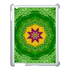 Feathers In The Sunshine Mandala Apple Ipad 3/4 Case (white) by pepitasart