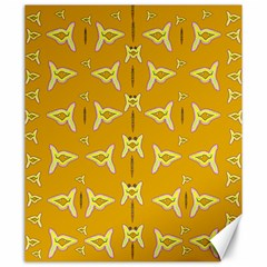 Fishes Talking About Love And   Yellow Stuff Canvas 20  X 24   by pepitasart
