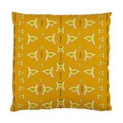 Fishes Talking About Love And   Yellow Stuff Standard Cushion Case (one Side) by pepitasart