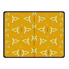 Fishes Talking About Love And   Yellow Stuff Fleece Blanket (small) by pepitasart