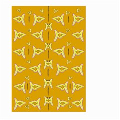 Fishes Talking About Love And   Yellow Stuff Large Garden Flag (two Sides) by pepitasart