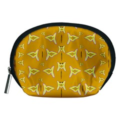 Fishes Talking About Love And   Yellow Stuff Accessory Pouches (medium)  by pepitasart