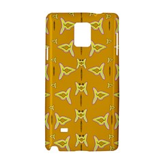 Fishes Talking About Love And   Yellow Stuff Samsung Galaxy Note 4 Hardshell Case by pepitasart