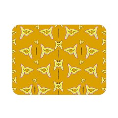 Fishes Talking About Love And   Yellow Stuff Double Sided Flano Blanket (mini)  by pepitasart