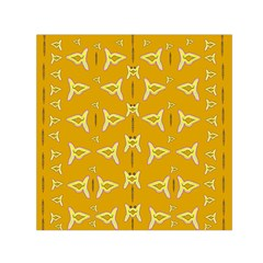 Fishes Talking About Love And   Yellow Stuff Small Satin Scarf (square) by pepitasart