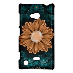 Beautiful Paradise Chrysanthemum Of Orange And Aqua Nokia Lumia 720 by beautifulfractals