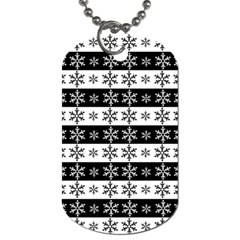 Snowflakes   Christmas Pattern Dog Tag (one Side) by Valentinaart