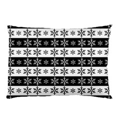 Snowflakes   Christmas Pattern Pillow Case by Valentinaart