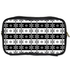 Snowflakes   Christmas Pattern Toiletries Bags by Valentinaart