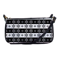 Snowflakes   Christmas Pattern Shoulder Clutch Bags by Valentinaart