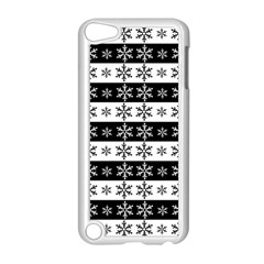 Snowflakes   Christmas Pattern Apple Ipod Touch 5 Case (white) by Valentinaart