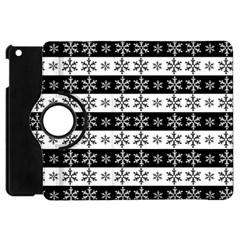 Snowflakes   Christmas Pattern Apple Ipad Mini Flip 360 Case by Valentinaart