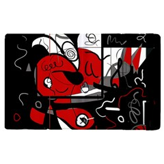 Red Black And White Abstraction Apple Ipad Pro 9 7   Flip Case by Valentinaart