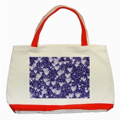 Hearts On Sparkling Glitter Print, Blue Classic Tote Bag (red) by MoreColorsinLife
