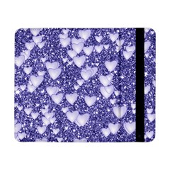 Hearts On Sparkling Glitter Print, Blue Samsung Galaxy Tab Pro 8 4  Flip Case by MoreColorsinLife